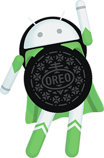 Logotipo do Android Oreo