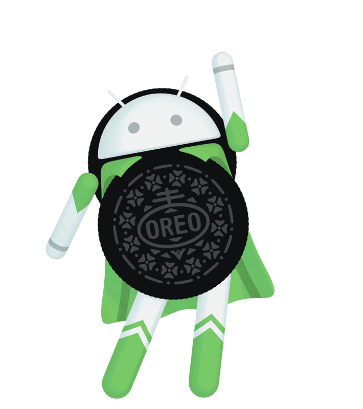 Android 8.0 Oreo superhero figure