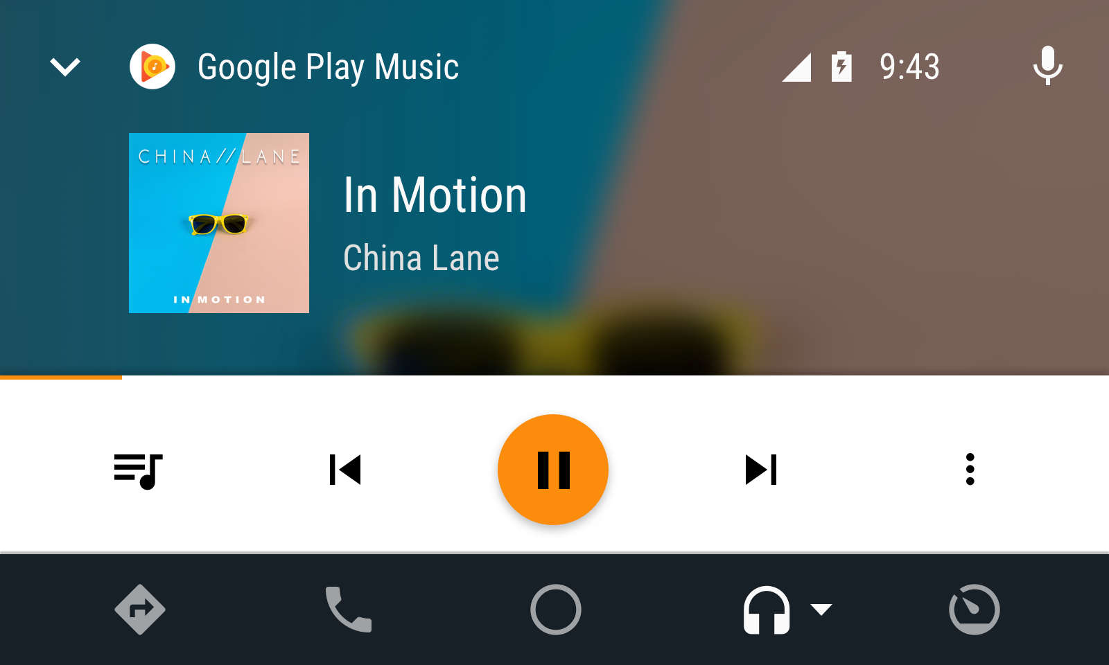 Audio app in day mode