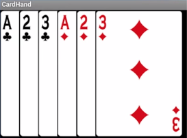 When you display a stack of cards, you only need to draw the visible portions