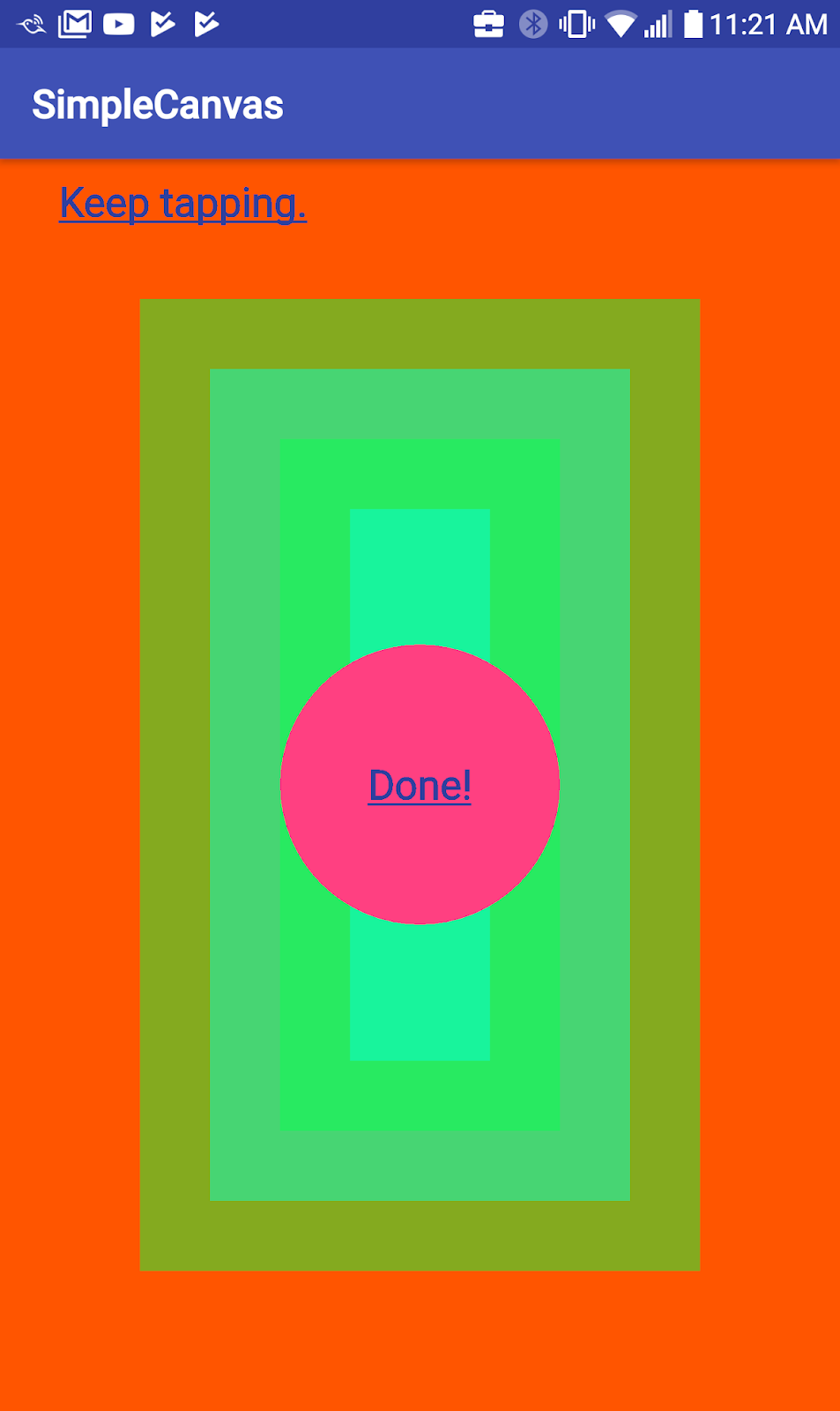 Screenshot for the final drawing of the SimpleCanvas app
