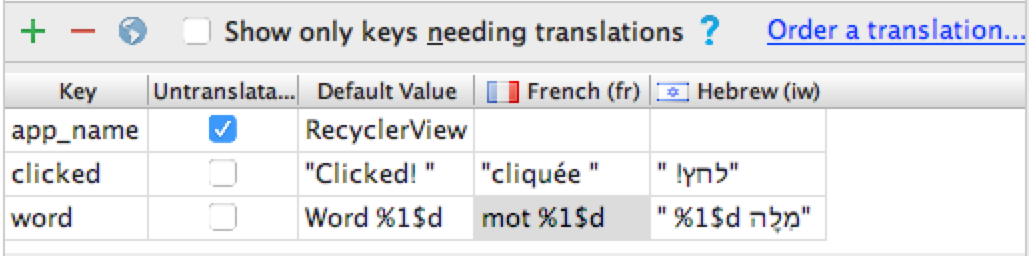 Translations for new string resources