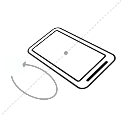 ift the bottom edge of the device so the screen is tilted away from you. Note the change to the pitch value. Pitch indicates the top-to-bottom angle of tilt around the device's horizontal axis.