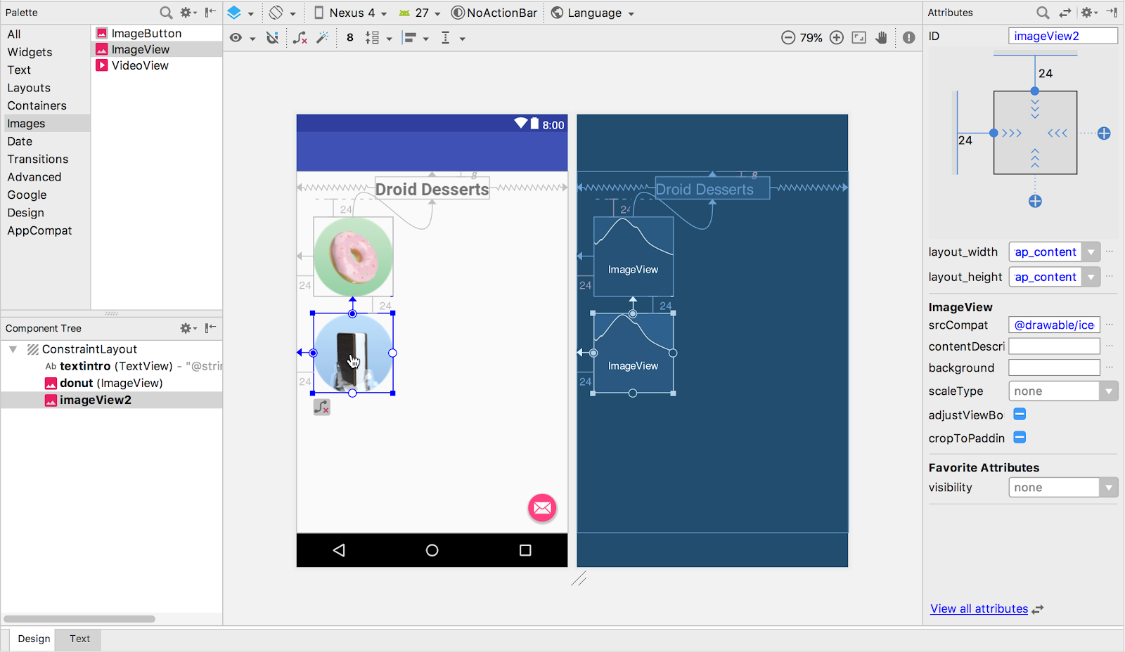 Adding a second ImageView to the layout