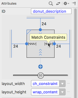 Changing the layout width to Match Constraints