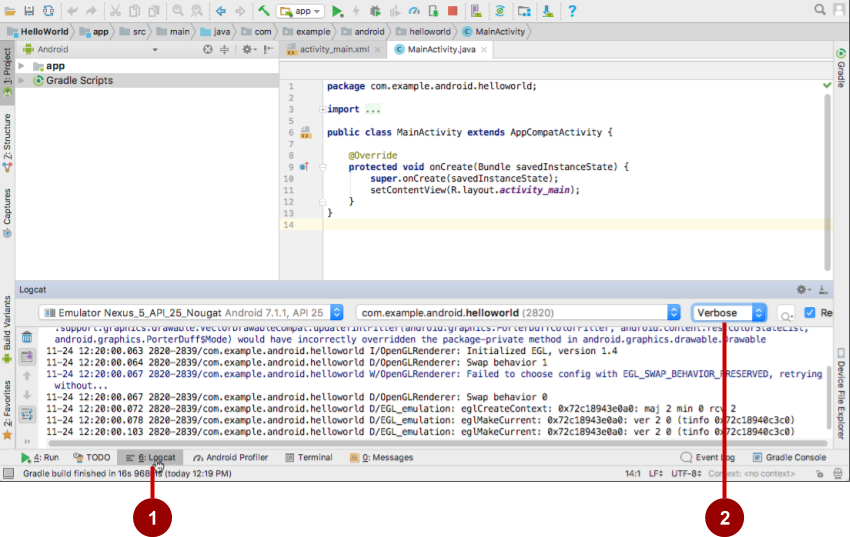 Android Studio Logcat