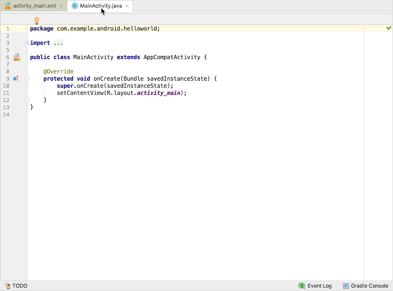 The code editor