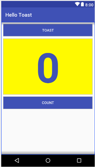 Preview of the UI after moving the Count button.