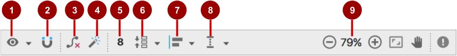 ConstraintLayout editing toolbar