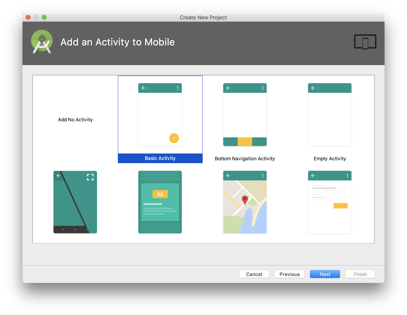 Add a Basic Activity to your app
