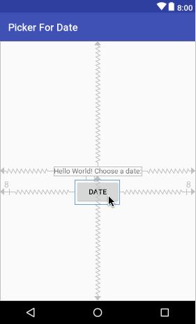 Picker For Date app layout