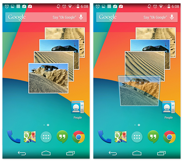 how to move widgets android 6