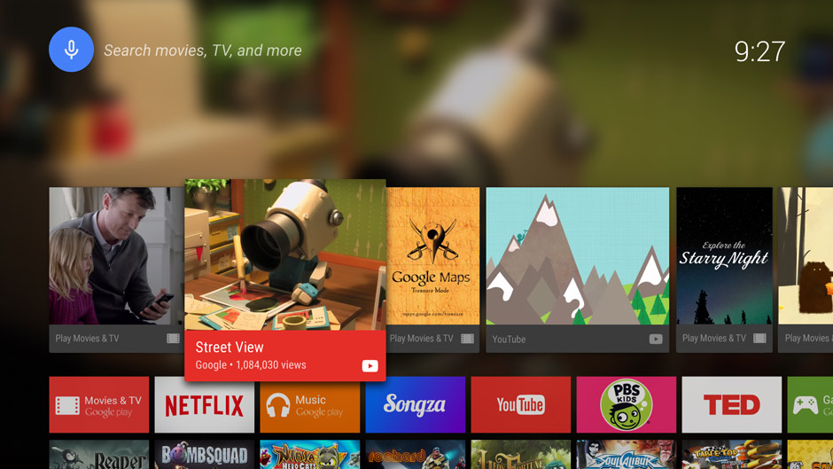 TV Home screen