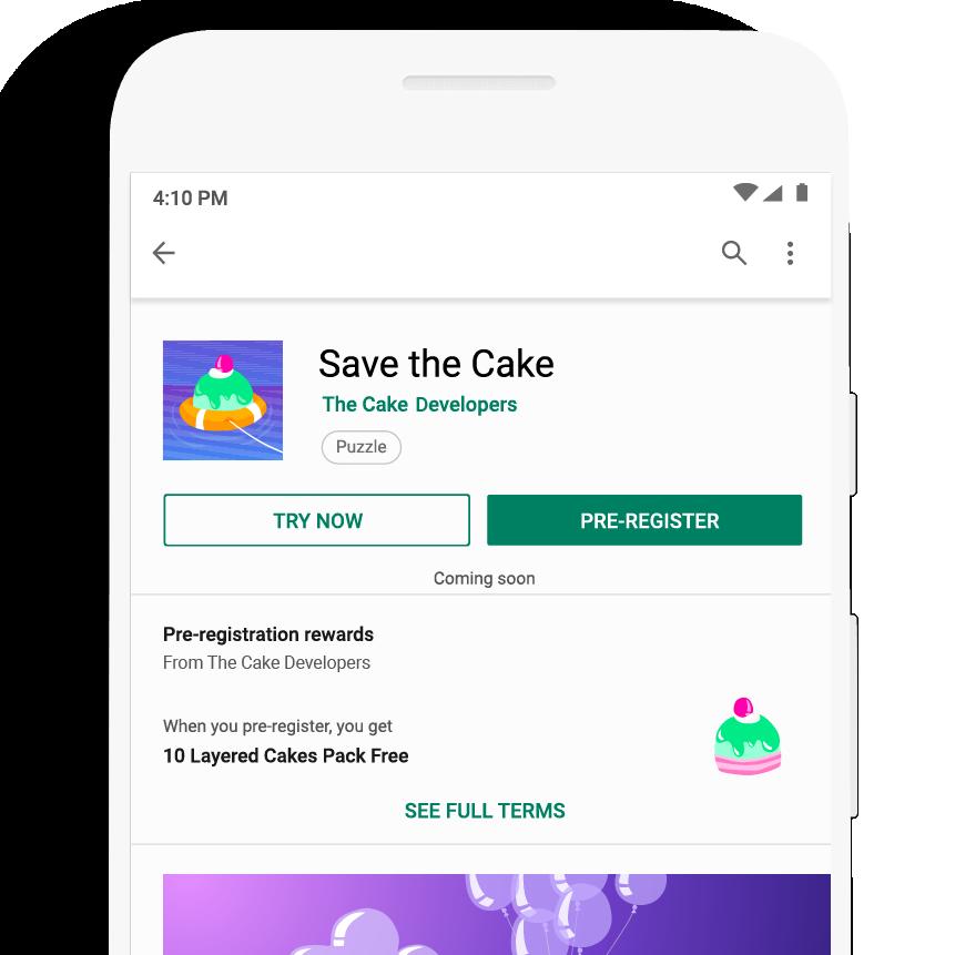 App com pré-registro