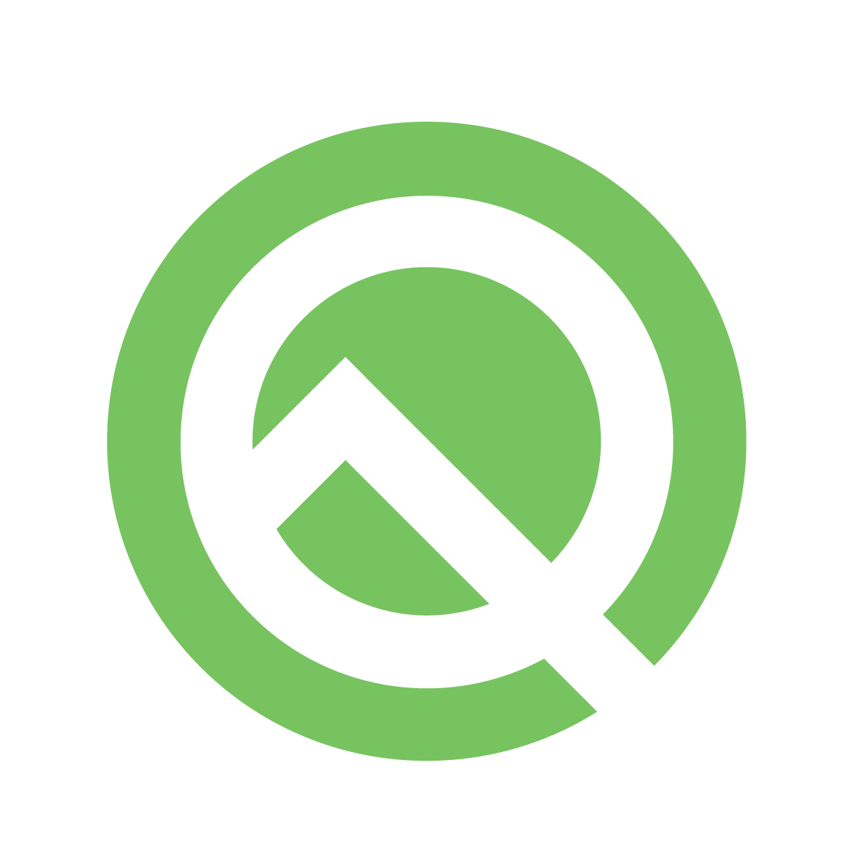 Android Q ベータ版のロゴ