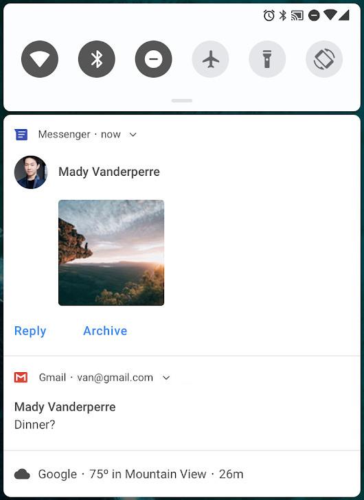 Messaging notifications