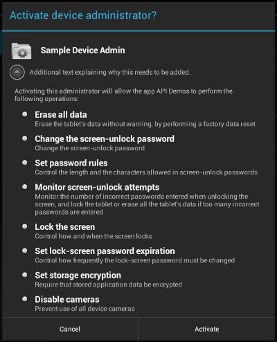 Android Device Administration