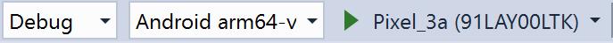 Run button in Visual Studio