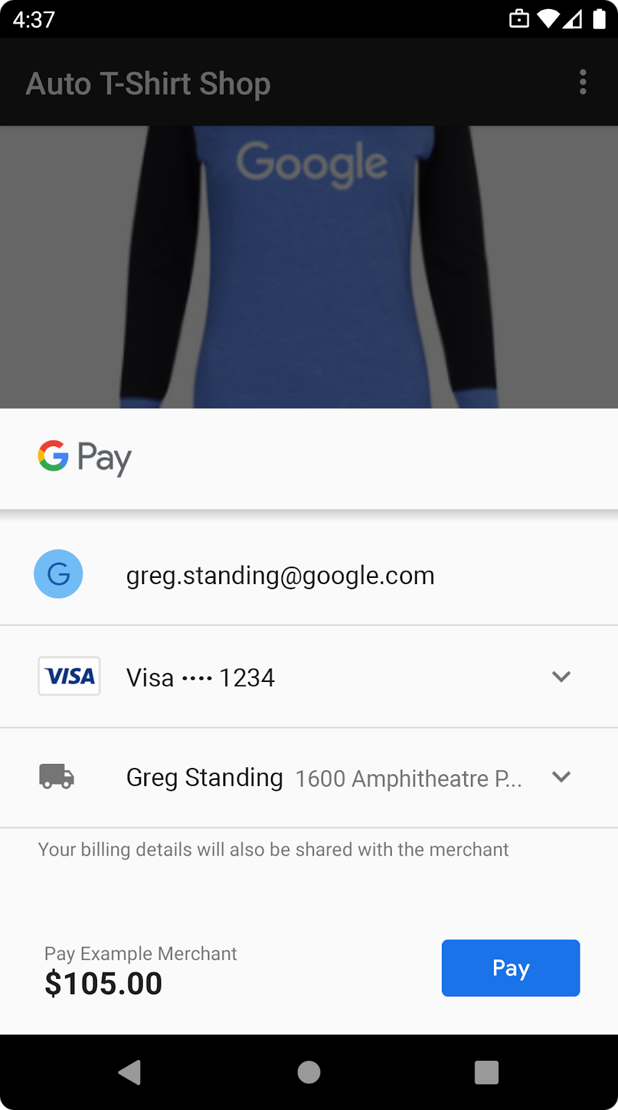 use google pay to sell physical goods or services