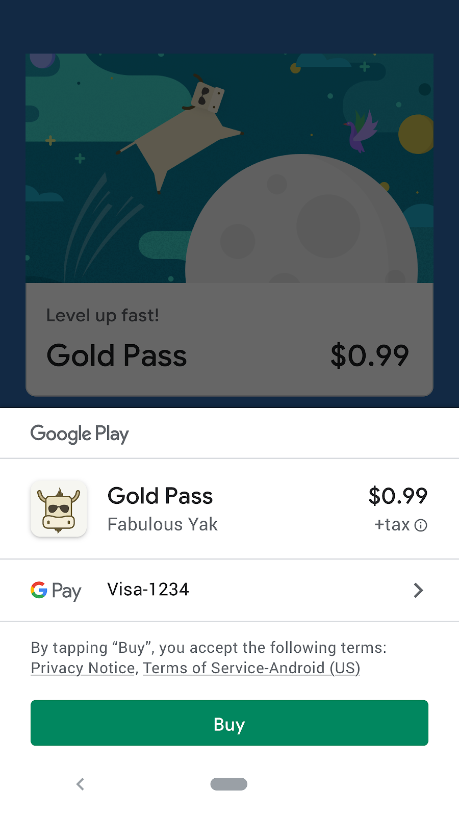 use google play's billing system to sell digital goods or services