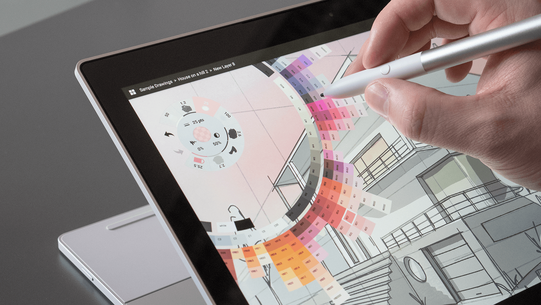 Interacción en la pantalla con pluma stylus
