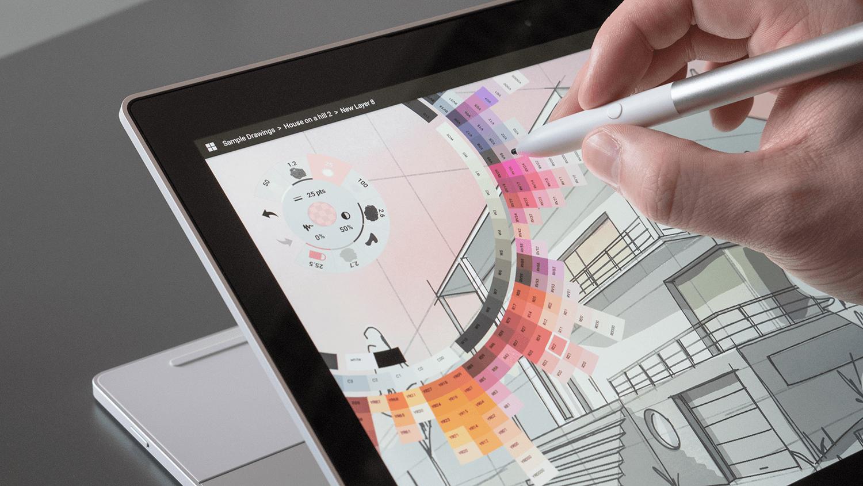 Interaksi layar dengan pena stilus