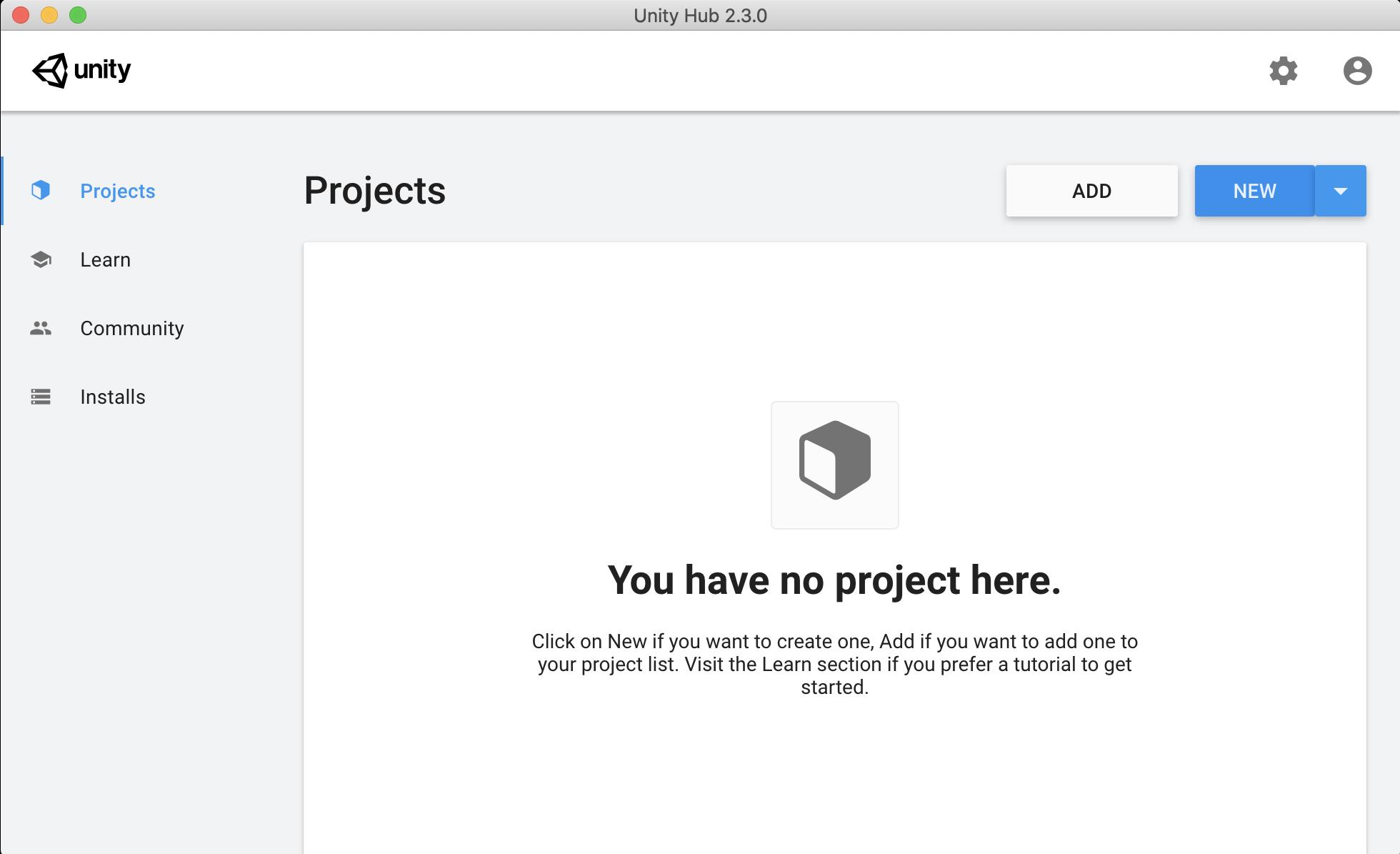 새 프로젝트 시작