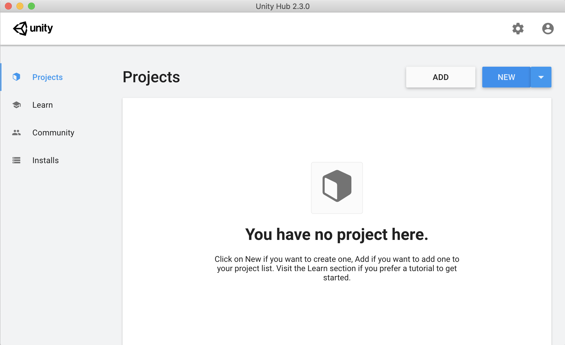 Iniciar um novo projeto