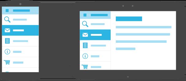 Conjunto de recursos para tablet