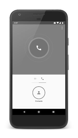 An example of a calling app