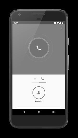 Ejemplo de una app de llamadas