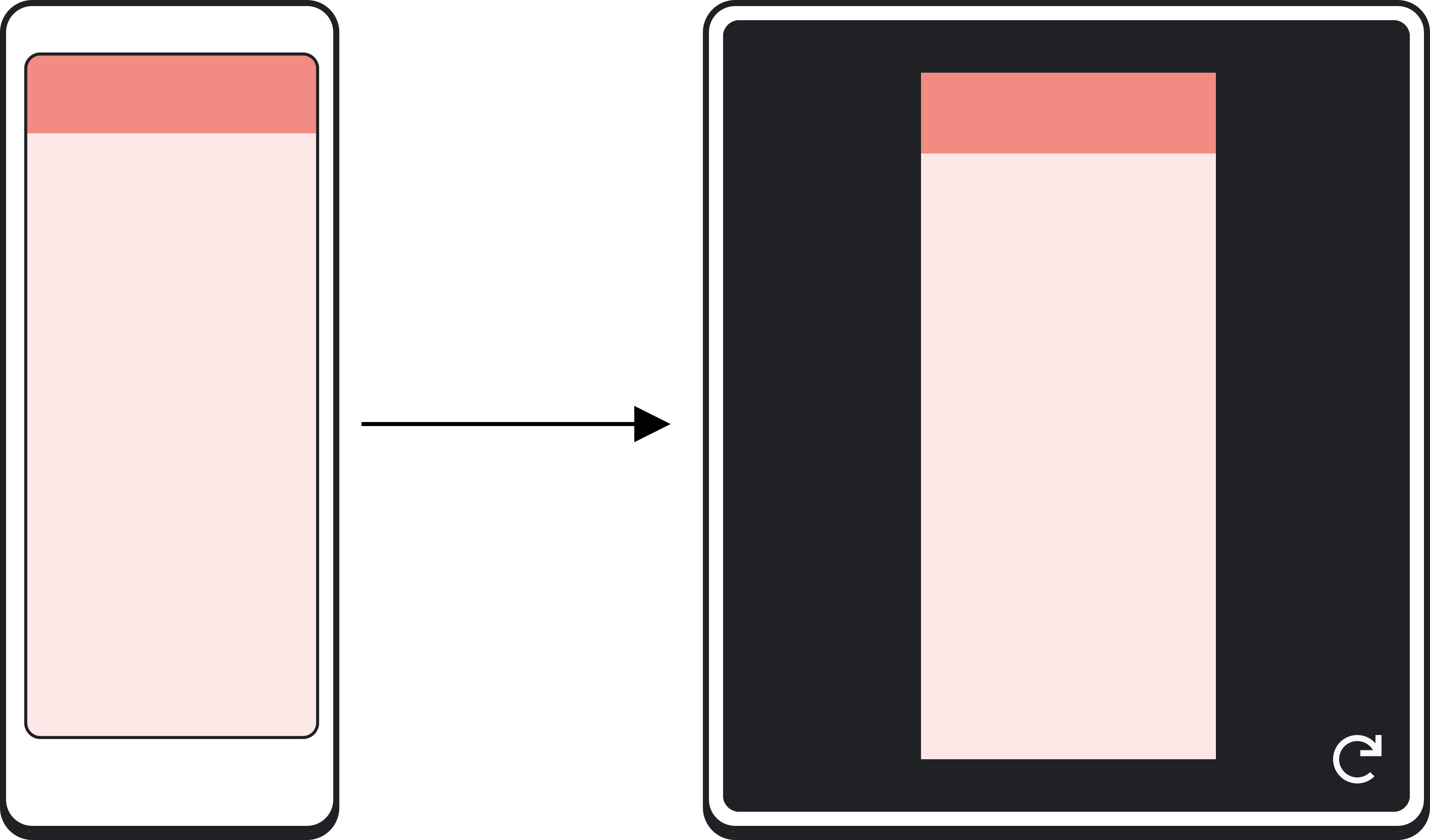 Foldable device showing an application that only partially fills           the unfolded display area.