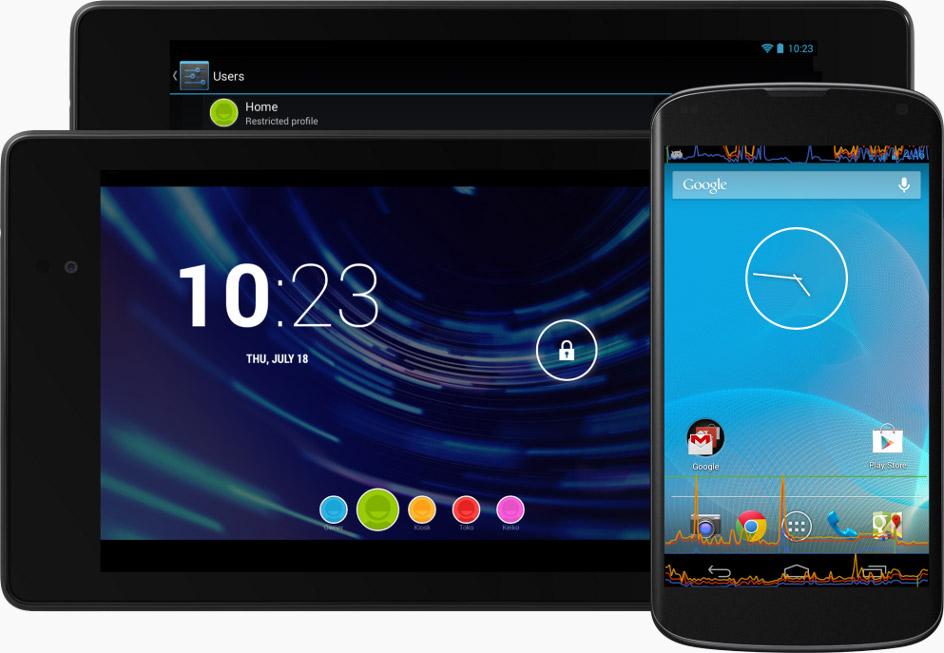 Android4.3 en teléfonos y tablets