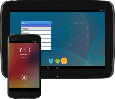 Android 4.2 on phone and tablet