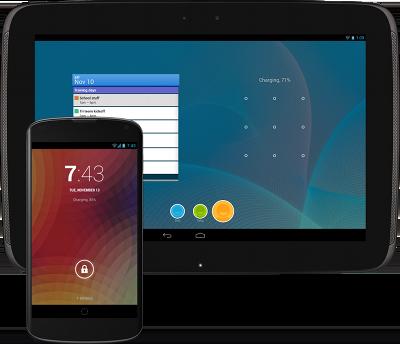 手机和平板电脑上的 Android 4.2