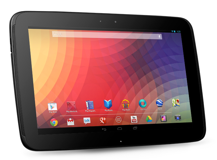 10-inch tablet running Android 4.2