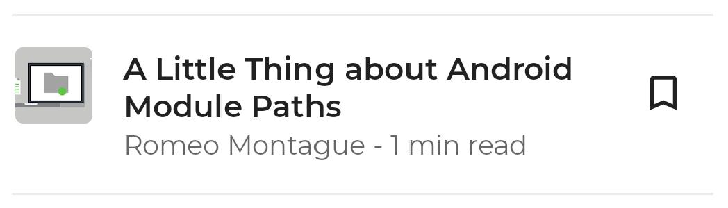 """Item de lista típico, contendo um título de artigo, autor e ícone """"adicionar aos favoritos""""."""