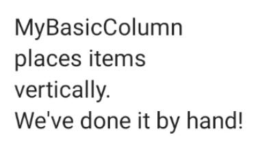 Beberapa elemen teks menumpuk satu elemen di atas elemen berikutnya dalam kolom.