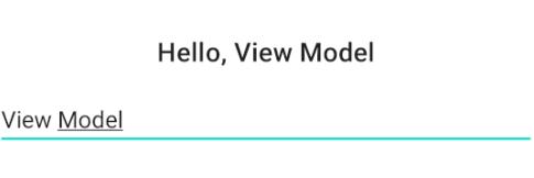 Un ejemplo de entrada del usuario con ViewModels.
