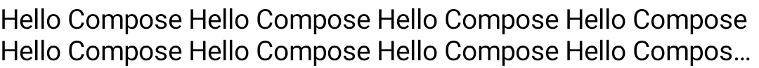 A long passage of text truncated after three lines, with an ellipsis at the end
