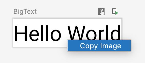El usuario hace clic en una vista previa para copiarla como una imagen.