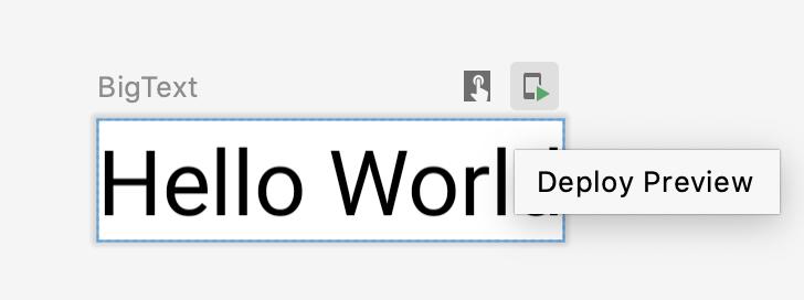 """El usuario hace clic en el botón """"implementar"""" de la vista previa"""