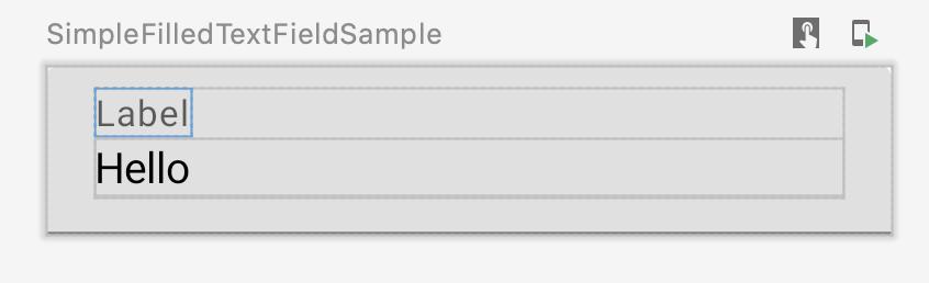El usuario se desplaza sobre una vista previa, lo que hace que Studio muestre los esquemas de sus elementos componibles
