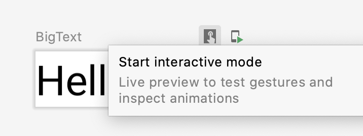 """The user clicking the preview's """"interactive"""" button"""