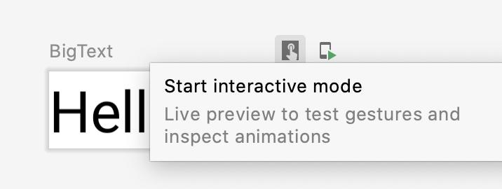 """El usuario hace clic en el botón """"interactivo"""" de la vista previa"""