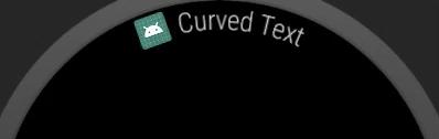 Contoh teks lengkung di Android Wear