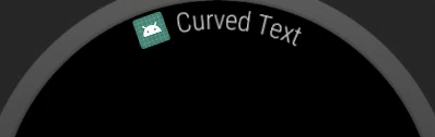 Exemplo de texto em arco no Android Wear