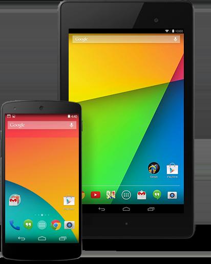 スマートフォンおよびタブレットでの Android 4.4