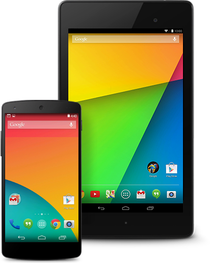 Android 4.4 on phone and tablet