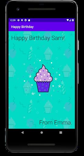 Obtén información para compilar una app como esta en el curso Aspectos básicos de Android